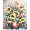 """Канва/ткань с рисунком """"Collection D Art"""" серия 11.000 60 см х 50 см 11461 Букет"""