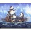 """Канва/ткань с рисунком """"Collection D Art"""" серия 11.000 60 см х 50 см 11473 Крушение корабля"""