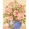 """Канва/ткань с рисунком """"Collection D Art"""" серия 11.000 60 см х 50 см 11854 Букет роз"""
