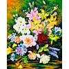 """Канва/ткань с рисунком """"Collection D Art"""" серия 11.000 60 см х 50 см 11355 Букет с лилиями"""