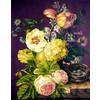 """Канва/ткань с рисунком """"Collection D Art"""" серия 11.000 60 см х 50 см 11584 Букет в вазе"""