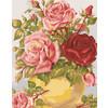 """Канва/ткань с рисунком """"Collection D Art"""" серия 11.000 60 см х 50 см 11853 Нежные розы"""