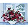 """Канва/ткань с рисунком """"Collection D Art"""" серия 11.000 60 см х 50 см 11399 Розы у окна"""
