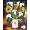 """Канва/ткань с рисунком """"Collection D Art"""" серия 11.000 60 см х 50 см 11558 Букет в вазе"""