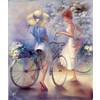 "Канва/ткань с рисунком ""Collection D Art"" серия 11.000 60 см х 50 см 11483 Прогулка на велосипеде"