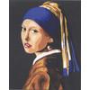 """Канва/ткань с рисунком """"Collection D Art"""" серия 11.000 60 см х 50 см 11859 Девушка с жемчужной сережкой"""