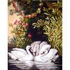 """Канва/ткань с рисунком """"Collection D Art"""" серия 11.000 60 см х 50 см 11582 Лебединое озеро"""