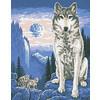 """Канва/ткань с рисунком """"Collection D Art"""" серия 11.000 60 см х 50 см 11432 Волк одиночка"""