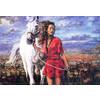 """Канва/ткань с рисунком """"Collection D Art"""" серия 11.000 60 см х 50 см 11486 Прогулка в поле"""