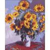 """Канва/ткань с рисунком """"Collection D Art"""" серия 11.000 60 см х 50 см 11861 Букет подсолнухов"""