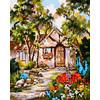 """Канва/ткань с рисунком """"Collection D Art"""" серия 11.000 60 см х 50 см 11851 Дом среди деревьев"""