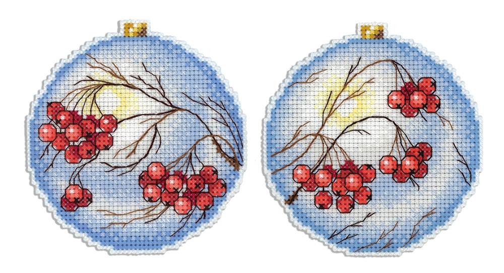 Вышивка новогодних шаров схемы 40