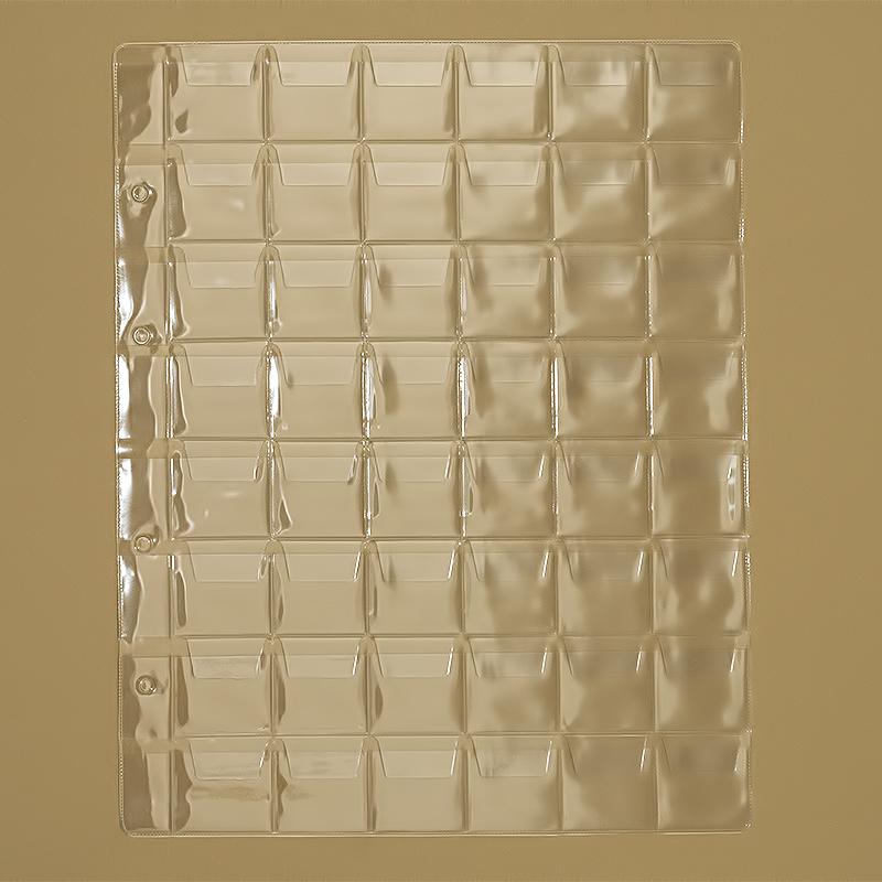 Пластиковые листы для монет 25 центов квотер
