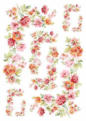 Мелкие цветочки декупаж