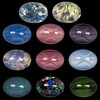 """Бусины Чехия """"PRECIOSA"""" кабошоны 416-12-030 18 x 13 мм 01003 разноцветный"""
