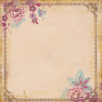 (010)004 Цветочная рамочка (Летний блюз)