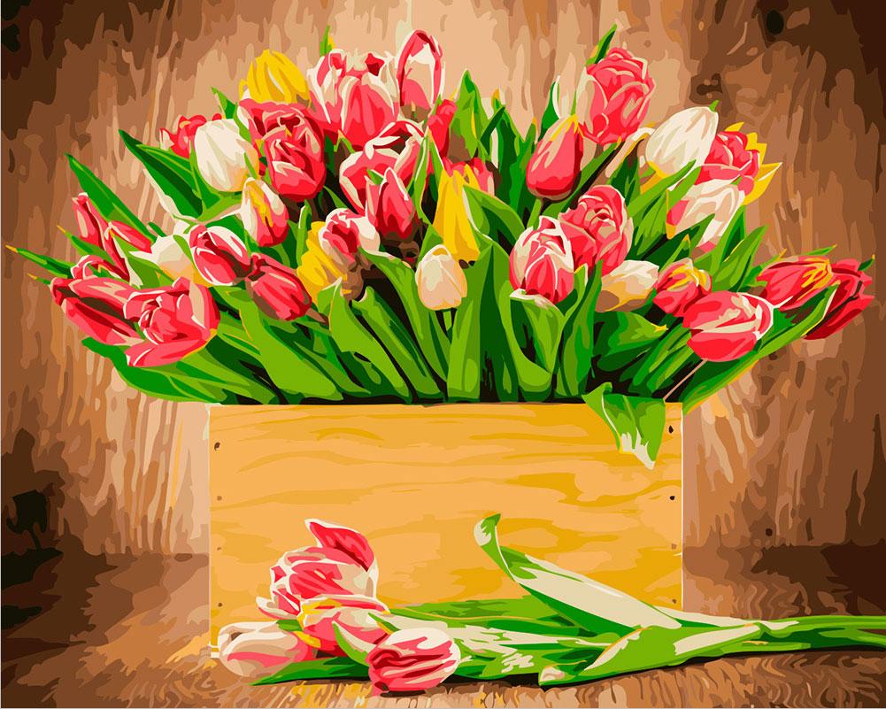 Весенние цветы стильная картинка
