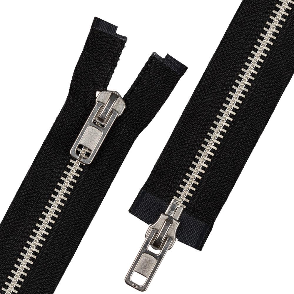 Молния металлическая 85 см разъемная двухзамковая фурнитура замочки для браслетов