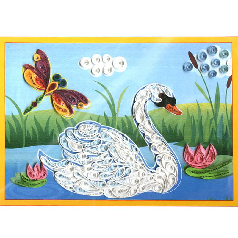 Лебедь квиллинг схемы