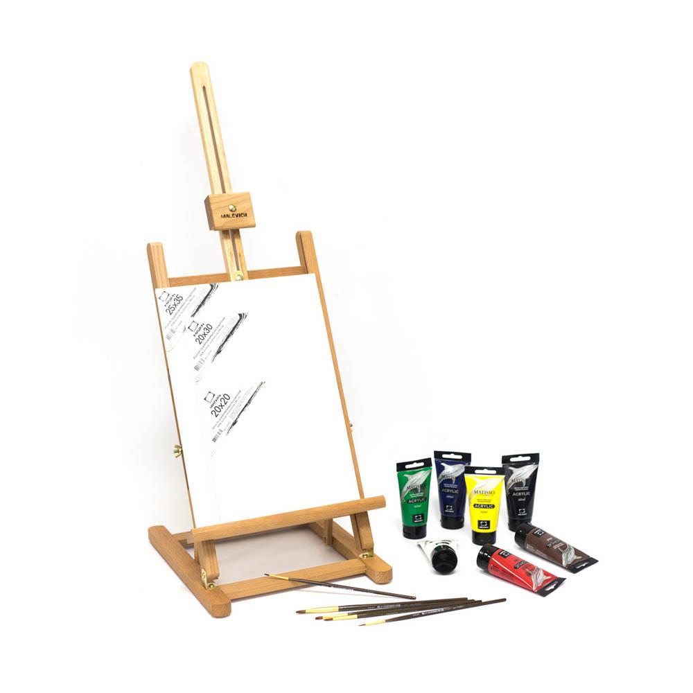 """Краски акриловые """"Малевичъ"""" Стартовый набор для живописи акрилом МЛ-57 60 мл 830208 купить за 4390,00 руб. в интернет-магазине Леонардо"""