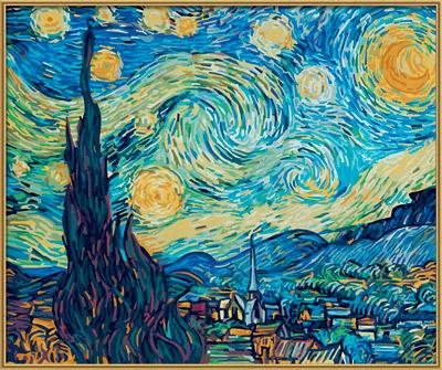 """""""Schipper"""" Раскраска по номерам 50 x 60 см """"Звездная ночь ..."""