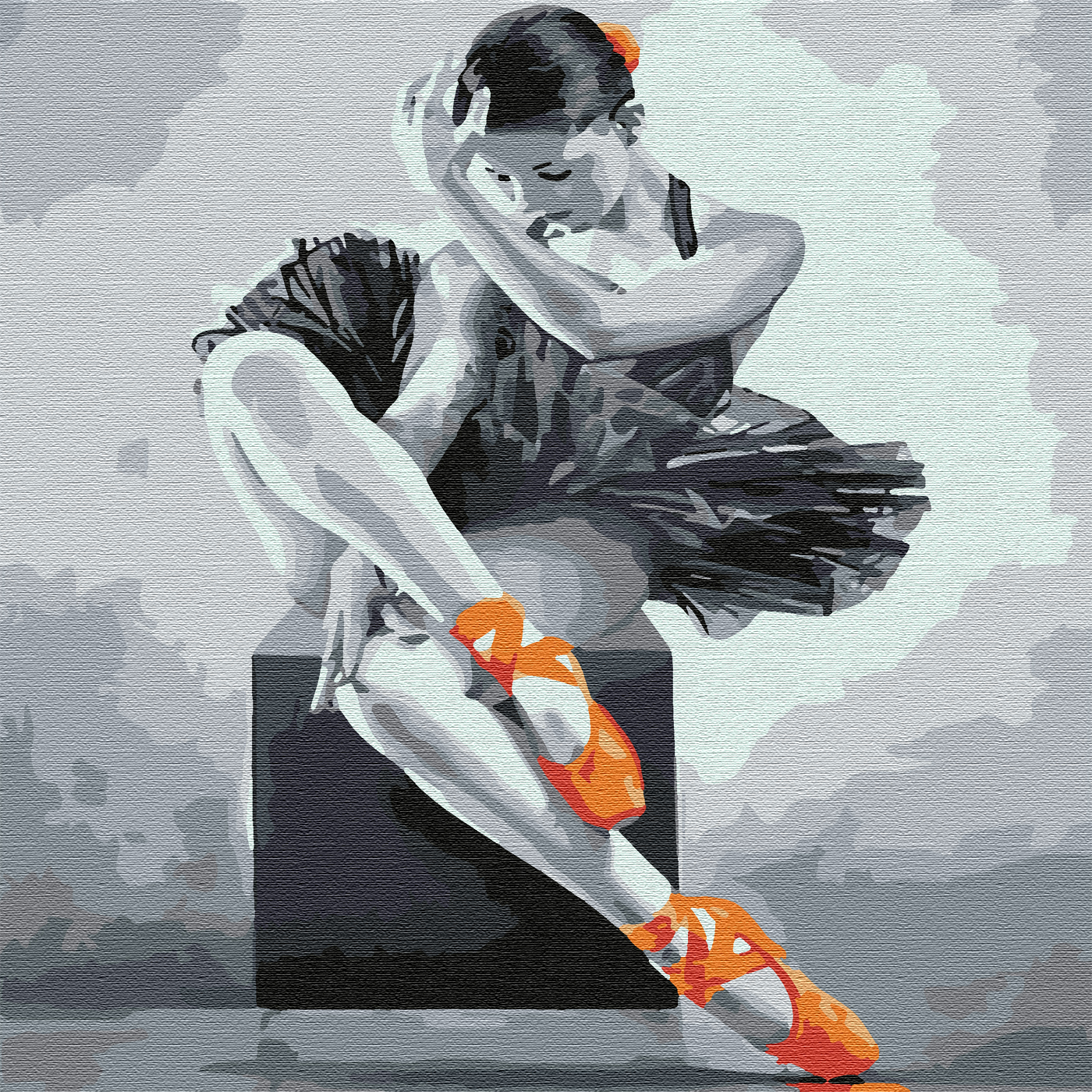 """Molly"" Картина по номерам 30 х 30 см ""Юная балерина ..."