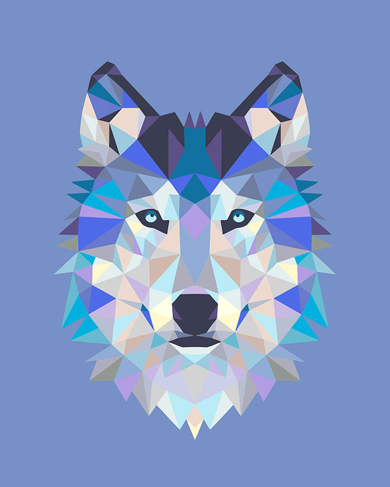 картинки волка из треугольников этого, стоит точно