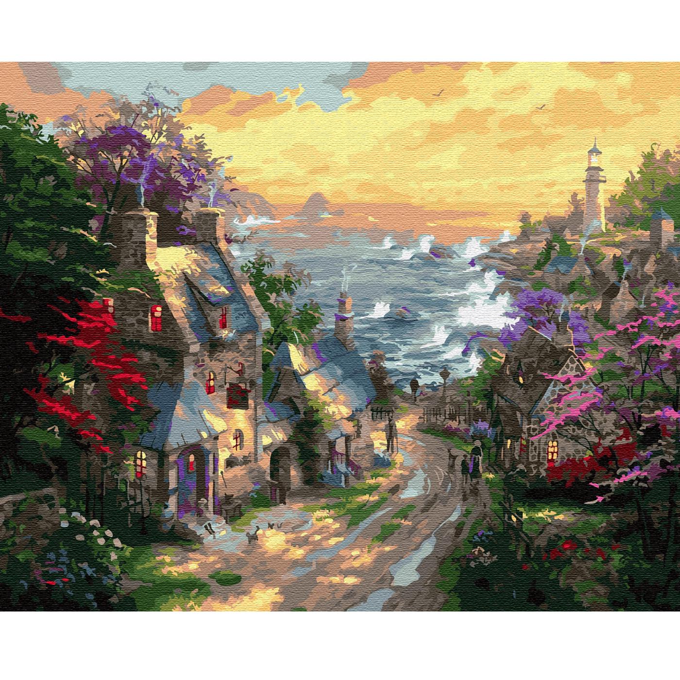 """""""Molly"""" Картина по номерам 40 х 50 см """"Деревня у берега ..."""