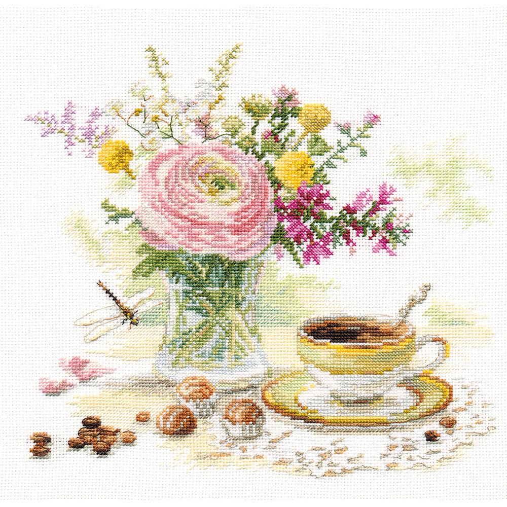 """Набор для вышивания """"Алиса"""" 5-18 """"Утренний кофе"""" 23 х 22 см купить за 641,00 руб. в интернет-магазине Леонардо"""