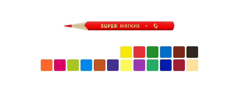 """""""ВКФ"""" """"Super"""" SCP-3018 Набор цветных карандашей ..."""