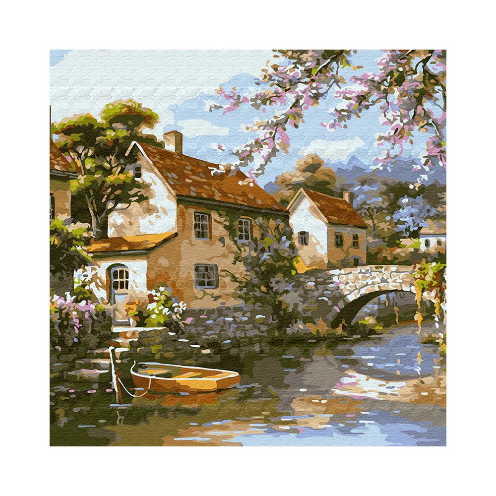 """""""Molly"""" Картина по номерам 30 х 30 см """"Городок на реке ..."""