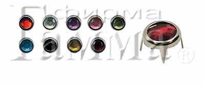 """Страз с шипами """"Gamma"""" MB-03 6 мм стекло в пакете с еврослотом СК/Распродажа №25 табачный купить за 2,00 руб. в интернет-магазине Леонардо"""