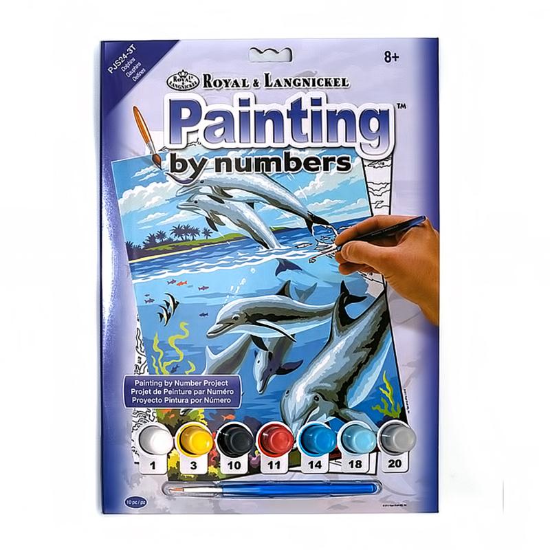 """""""ROYAL LANGNICKEL"""" Раскраска по номерам 2 """"Дельфины"""" PJS24 ..."""