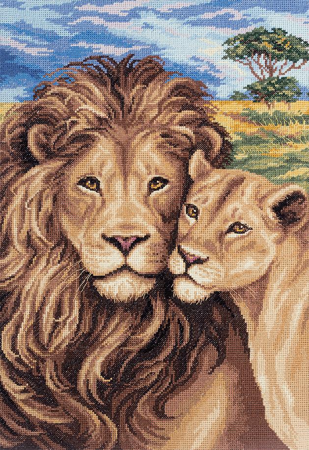 Вышивка крестом львы картинки