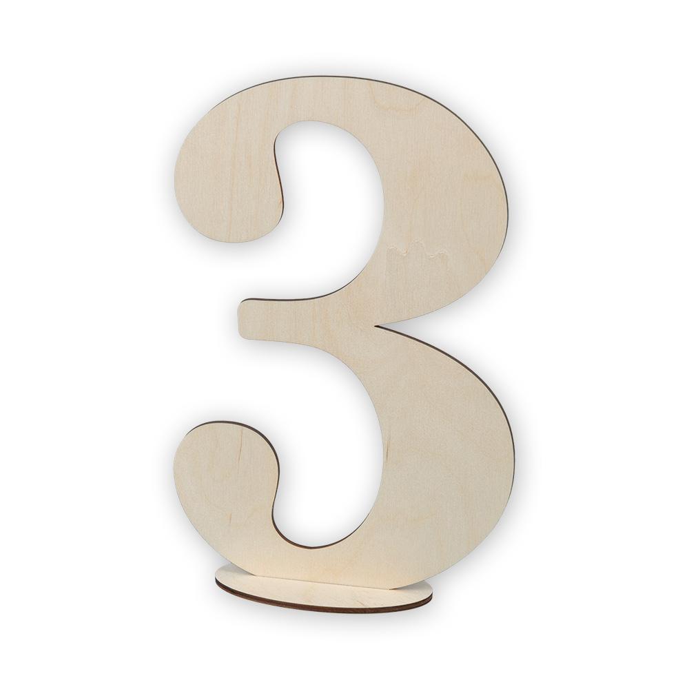 Цифра 3 как открытка