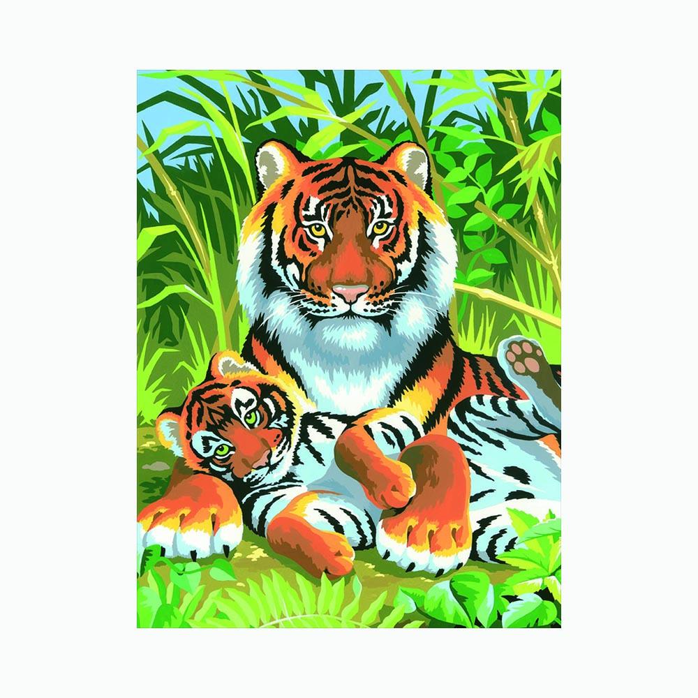 """""""KSG"""" Раскраска детская по номерам малая """"Тигры"""" 0029 ..."""