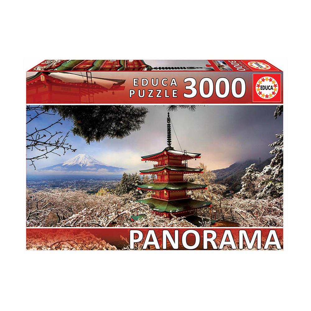 """""""EDUCA"""" Пазл №2 3000 деталей 3000 элемент. """"Гора Фудзи и пагода Чурейто"""" 18013 купить за 2568,00 руб. в интернет-магазине Леонардо"""
